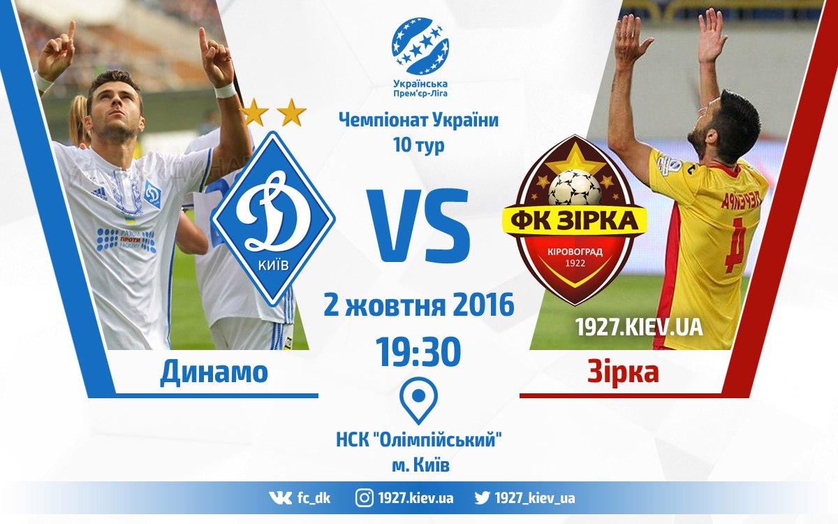 Динамо Киев — Звезда: прогноз на матч 11.09.2017