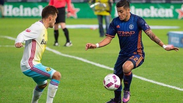Ман Сити просматривает игрока Нью-Йорк Сити