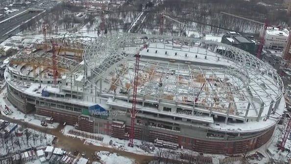Стадион Динамо будет введён в эксплуатацию весной 2018 года