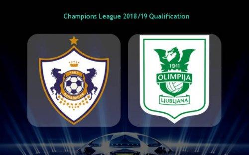 Карабах – Олимпия Любляна обзор матча (18.07.2018)