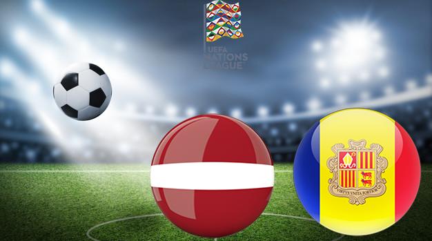 Латвия - Андорра Лига наций УЕФА 03.09.2020