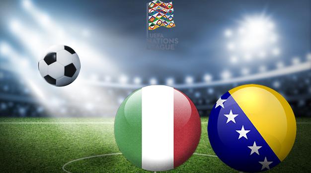 Италия - Босния Лига наций УЕФА 04.09.2020