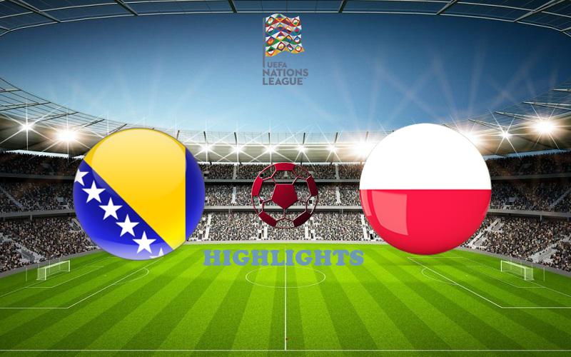 Босния и Герцеговина - Польша обзор 07.09.2020 Лига наций УЕФА