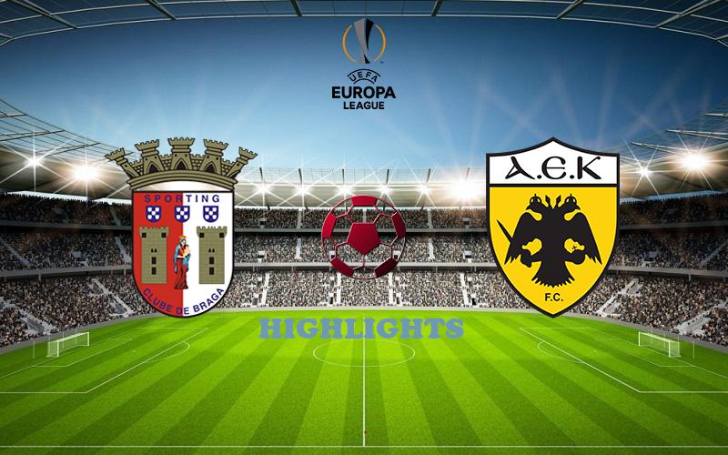 Брага - АЕК обзор 22.10.2020 Лига Европы